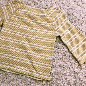 Anthropologie Sweaters - Anthropologie Postmark Yellow Striped Sweater